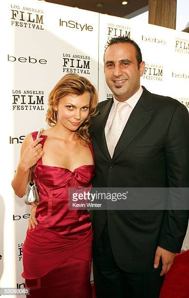 """Executive Producer/Founder & CEO of Element Films Sam Nazarian and Irina Medashkocoskaza arrive at the screening of the film """"Down in the Valley""""..."""