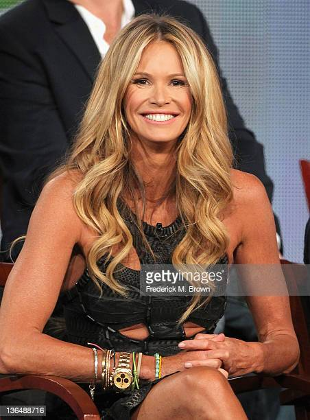 Executive Producer/Host Elle Macpherson speaks onstage during the Fashion Star panel during the NBCUniversal portion of the 2012 Winter TCA Tour at...