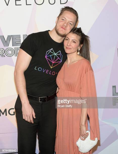 'BELIEVER' Executive Producer/Imagine Dragons frontman Dan Reynolds and his wife singer Aja Volkman attend the screening of the HBO Documentary film...