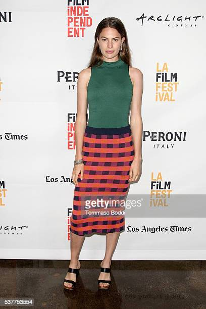 Executive producer/Model Cameron Russell attends the premiere of 'The House on Coco Road' during the 2016 Los Angeles Film Festival at Arclight...