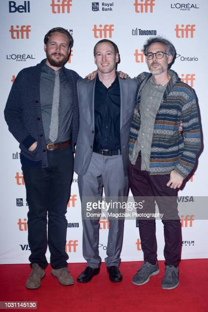 Executive producers Adam Hendricks Zac Locke and Greg Gilreath attend the Midnight Madness red carpet premiere for The Wind during the Toronto...
