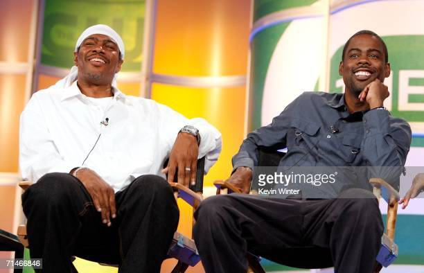 Executive Producers Ali LeRoi and Chris Rock of the series 'Everybody Hates Chris' attend the 2006 Summer Television Critics Association Press Tour...