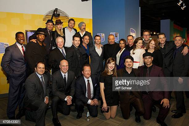 Executive Producers and Cast Members of Chicago Fire And Chicago PD attend the Cast Photo Call at the Museum of Broadcast Communications on February...