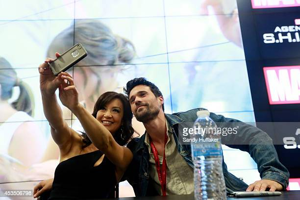 S AGENTS OF SHIELD Executive producers and cast of Marvel's Agents of SHIELD were featured at the ComicCon Convention in San Diego California on July...