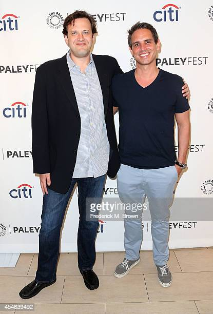 Executive producers Andrew Kreisberg and Greg Berlanti attend The Paley Center for Media's PaleyFest 2014 Fall TV Previews The CW at The Paley Center...