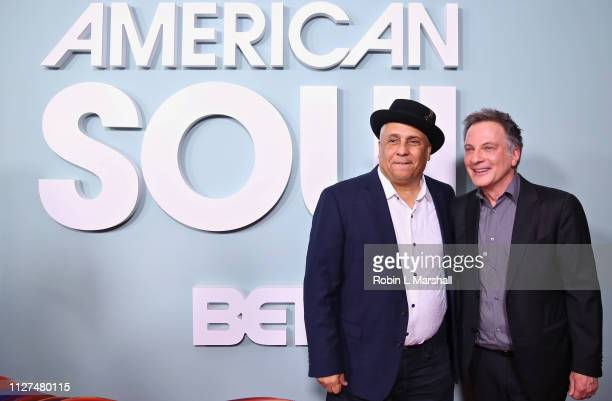 Executive Producers attend BET's 'American Soul' Red Carpet at Wolf Theatre on February 04 2019 in North Hollywood California