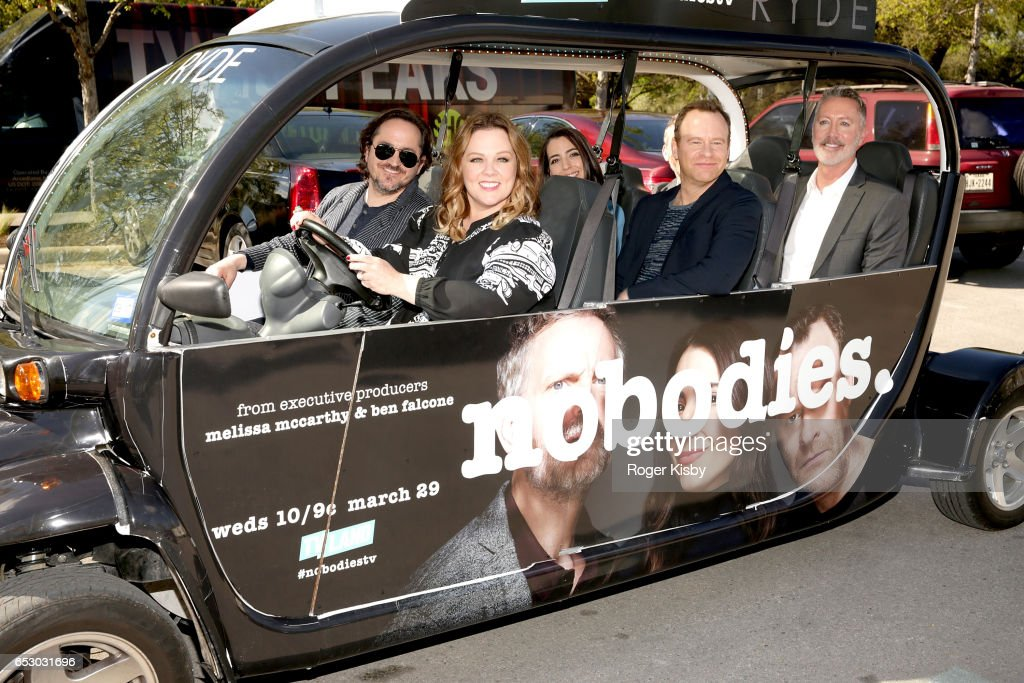 Executive producers Ben Falcone and Melissa McCarthy along with cast members/executive producers Rachel Ramras, Larry Dorf, Hugh Davidson and showrunner/executive producer Michael McDonald attend the world premiere screening of the new TV Land series 'Nobodies' during SXSW on March 13, 2017 in Austin, Texas. 'Nobodies' premieres on TV Land Wednesday, March 29 at 10:00PM