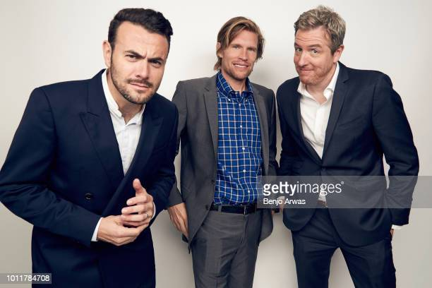 Executive Producers Ben Winston Austen Earl and Tim McAuliffe of CBS's 'Happy Together' pose for a portrait during the 2018 Summer Television Critics...