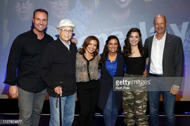 Executive producers Brent Miller Norman Lear Justina Machado executive producer Gloria Calderon Kellett Isabella Gomez and executive producer Mike...