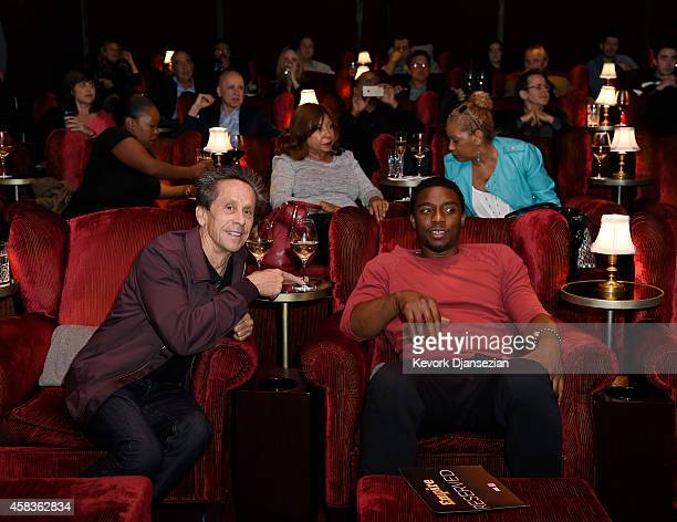 Executive producers Brian Grazer and Chadwick Boseman attend screening of Fox's new television drama series 'Empire' at the Soho House November 03 in...