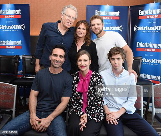 Executive producers Carlton Cuse and Kerry Ehrin and actors Max Thieriot, Nestor Carbonell, Vera Farmiga and Freddie Highmore attend SiriusXM's...