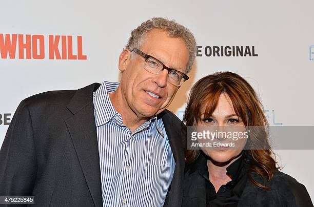 Executive producers Carlton Cuse and Kerry Ehrin arrive at the premiere party for AE's Season 2 of Bates Motel and the series premiere of Those Who...