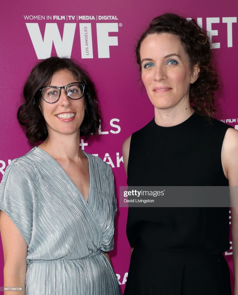 Executive producers Carly Mensch (L) and Liz Flahive attend Netflix - Rebels and Rules Breakers For Your Consideration event at Netflix FYSee Space on May 12, 2018 in Los Angeles, California.