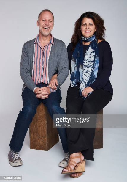 Executive Producers Chris Collins and Lydia Tenaglia of CNN's Anthony Bourdain Parts Unknown pose for a portrait during the 2018 Tribeca TV Festival...