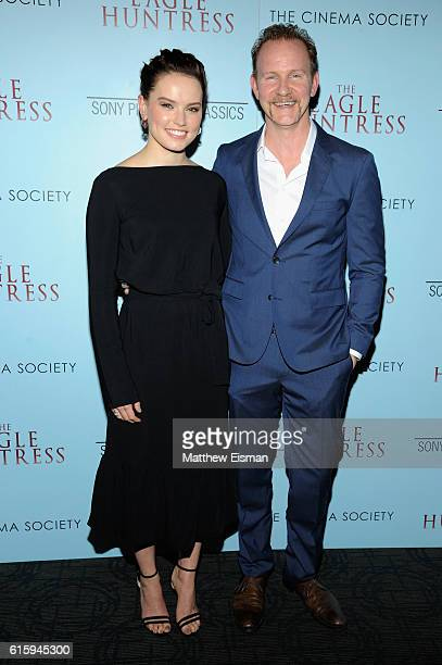 """Executive producers Daisy Ridley and Morgan Spurlock attend """"The Eagle Huntress"""" screening at Landmark Sunshine Cinema on October 20, 2016 in New..."""