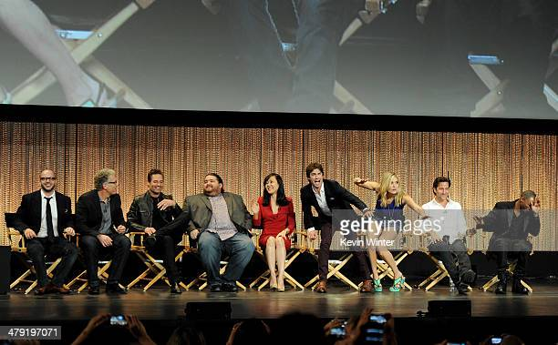 Executive producers Damon Lindelof, Carlton Cuse, actors Josh Holloway, Jorge Garcia, Yunjin Kim, Ian Somerhalder, Maggie Grace, Henry Ian Cusick and...