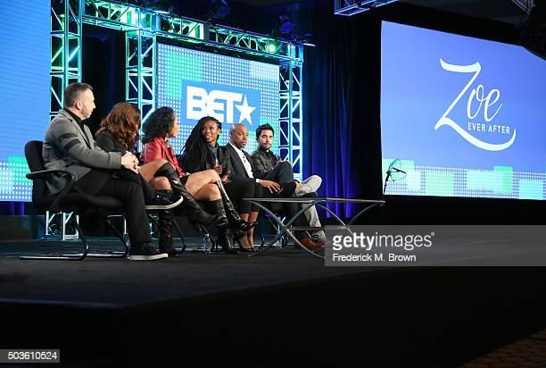 Executive Producers Danny Rose Erica MontolfoBura and Debra Martin Chase and actors Brandy Norwood Dorian Missick and Ignacio Serricchio speak...