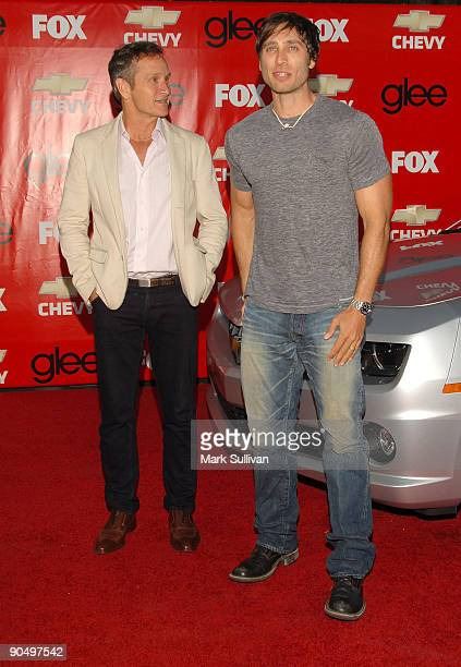 Executive producers Dante Di Loreto and Brad Falchuk attend the 'Glee' Los Angeles Premiere Screening And Post Party at the Willow School on...