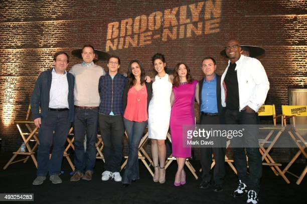 Executive producers David Miner Dan Goor actors Andy Samburg Melissa Fumero Stephanie Beatriz Chelsea Peretti Joe Lo Truglio and Terry Crews attend...