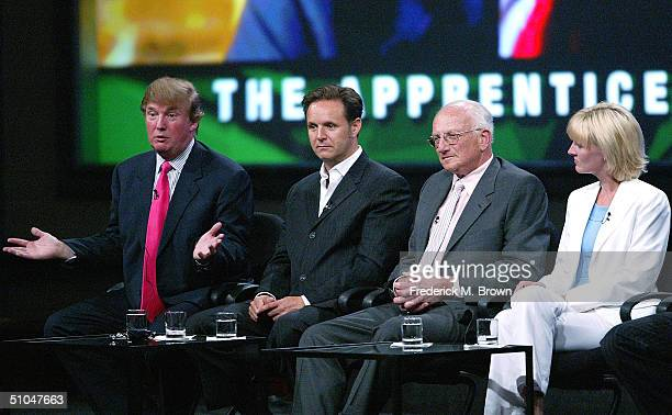 Executive Producers Donald Trump Mark Burnett Vice Presidents of the Trump Organization George H Ross and Carolyn Kepcher of The Apprentice speak...