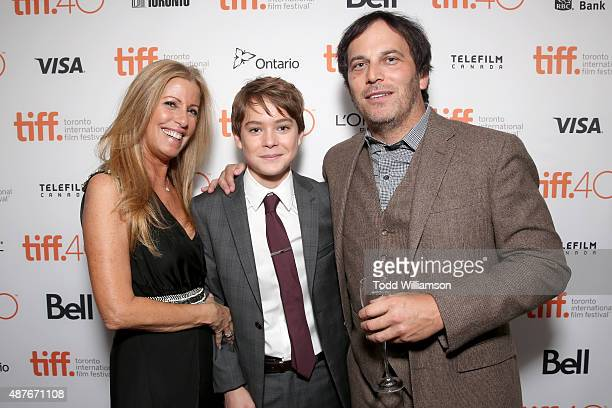 Executive Producers Ellen H Schwartz actor Judah Lewis and Executive Producer Nathan Ross attend the 'Demolition' Fox Searchlight VVS and Sierra...