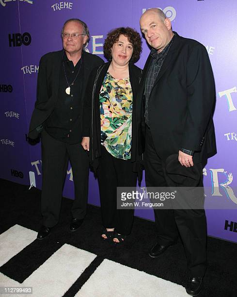 """Executive producers Eric Overmyer, Nina Noble and David Simon and attend the """"Treme"""" New York Premiere at The Museum of Modern Art on April 21, 2011..."""