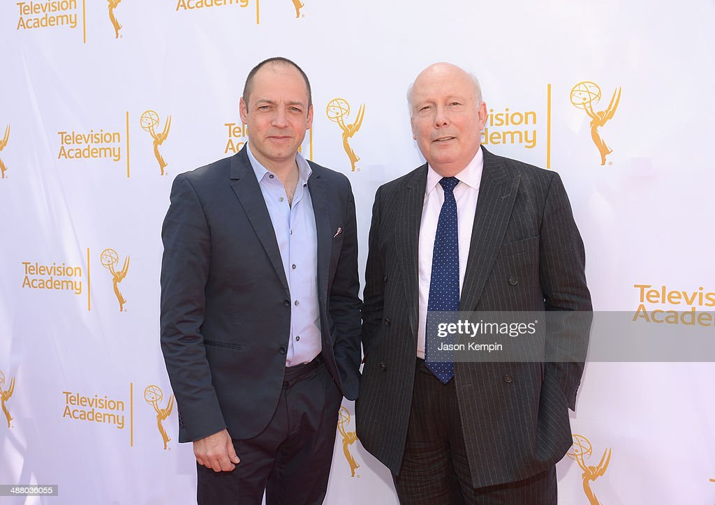 Executive Producers Gareth Neame and Julian Fellowes attend The Television Academy Presents An Afternoon with 'Downton Abbey' at Paramount Studios on May 3, 2014 in Hollywood, California.