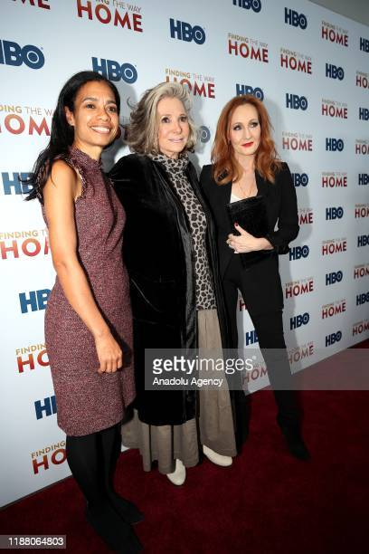 Executive Producers Jacqueline Glover , Sheila Nevins and author J.K. Rowling attend HBO's 'Finding The Way Home' World Premiere at Hudson Yards in...