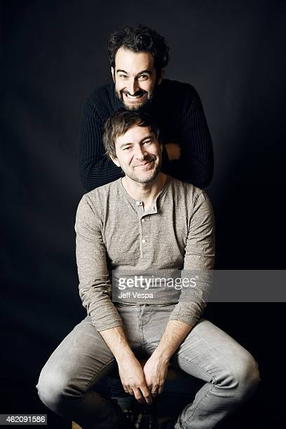 Executive producers Jay Duplass and Mark Duplass from Animals poses for a portrait at the Village at the Lift Presented by McDonald's McCafe during...