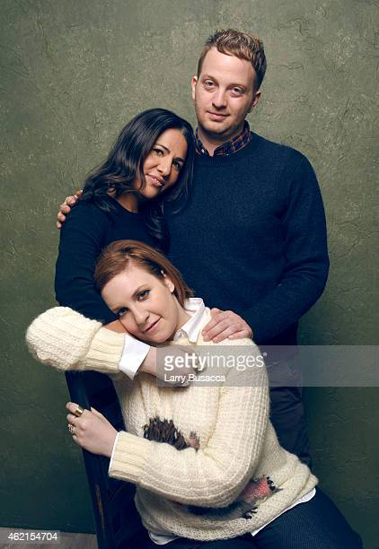 Executive producers Jenni Konner Lena Dunham and director Matt Wolf of It's Me Hilary The Man Who Drew Eloise pose for a portrait at the Village at...