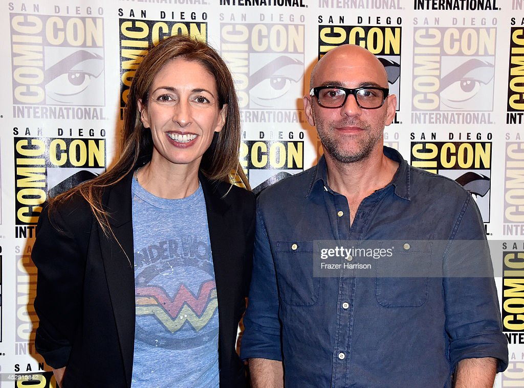 Executive producers Jennifer Johnson and Marcos Siega attend FOX's 'The Following' press line during Comic-Con International 2014 at Hilton Bayfront on July 27, 2014 in San Diego, California.