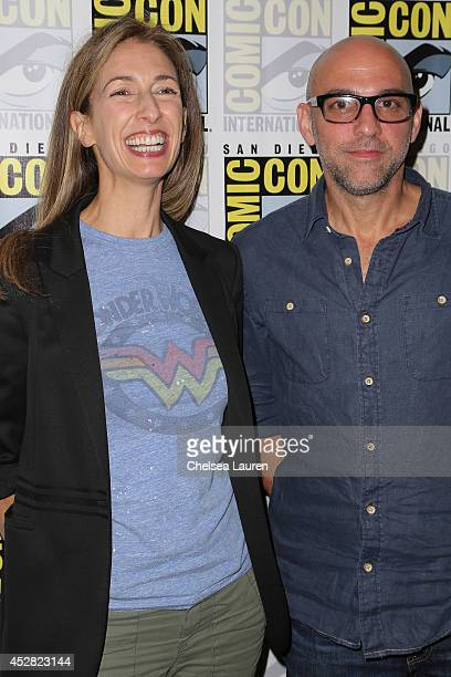 Executive producers Jennifer Johnson and Marcos Siega attend 'The Following' press line at ComicCon International on July 27 2014 in San Diego...