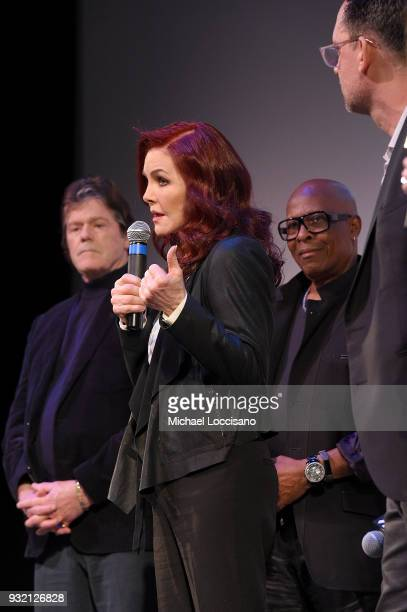 Executive producers Jerry Schilling and Priscilla Presley film subject David Porter and Director Thom Zimny take part in a QA following the 'Elvis...