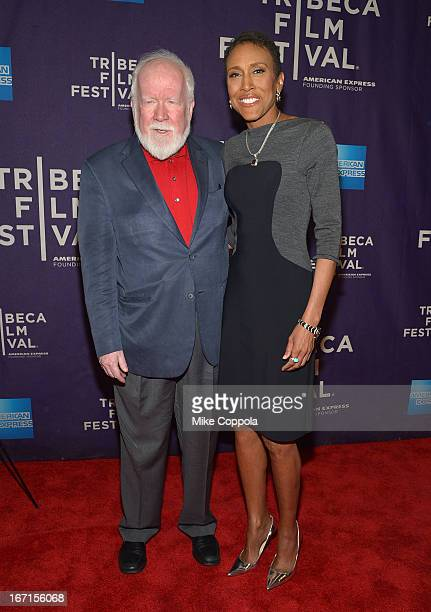 """Executive producers John Walsh and Robin Roberts attend the ESPN world premiere of """"Let Them Wear Towels"""" on April 21, 2013 in New York City."""