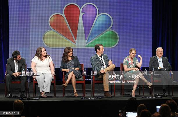 Executive Producers Jon Pollack and Emily Spivey Actors Maya Rudolph and Will Arnett Producer Christina Applegate and Executive Producer Lorne...