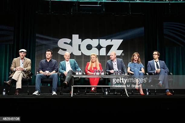 Executive producers Jonathan Ames Seth MacFarlane actors Patrick Stewart Jacki Weaver Adrian Scarborough Dolly Wells and Timm Sharp speak onstage...