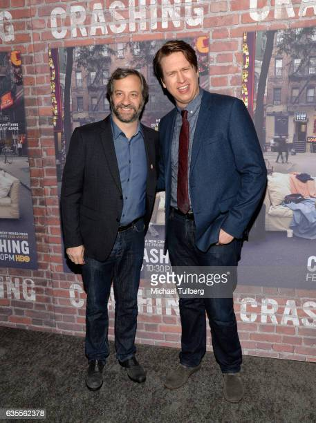 Executive Producers Judd Apatow and Pete Holmes attend the premiere of HBO's Crashing at Avalon on February 15 2017 in Hollywood California