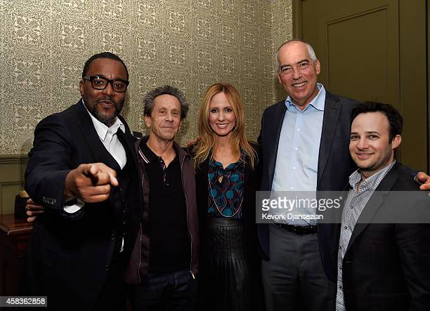 Executive producers Lee Daniels Brian Grazer Danny Strong pose with Dana Walden Chairman and CEO Fox Television Group and Gary Newman Chairman and...