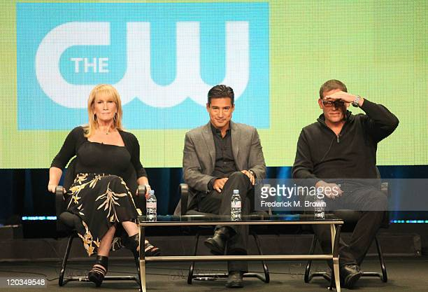Executive Producers Lisa GregorischDempsey Mario Lopez and Mike Fleiss speak during the 'H8R' panel during the CW portion of the 2011 Summer TCA Tour...