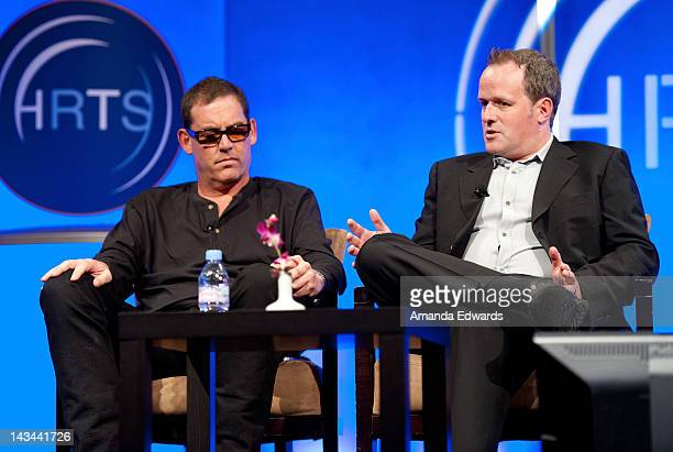 Executive Producers Mike Fleiss and Conrad Green attend The Hollywood Radio Television Society Presents The Unscripted Hitmakers luncheon at The...