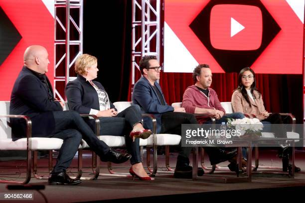 Executive producers Nick Pepper Jen Chambers showrunner/executive producer Blair Singer creator/writer Jason Ubaldi and actor/executive producer Anna...