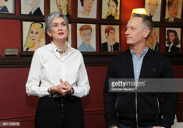 Executive Producers Nina Lannan And Devin Keudell Attend Judy Mclanes Portrait Unveiling At Sardis On January