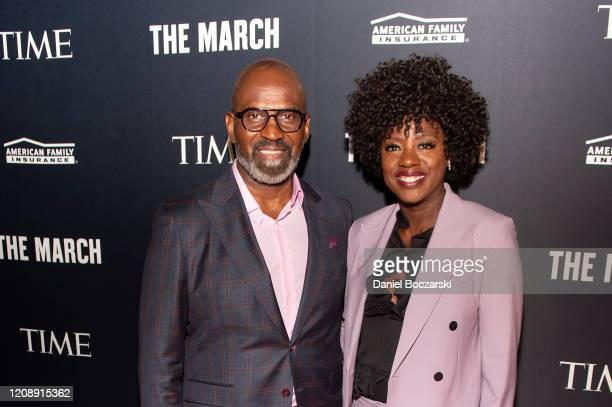 """Executive Producers of """"The March"""" Julius Tennon and Viola Davis attend the TIME Launch Event for The March VR Exhibit at the DuSable Museum on..."""