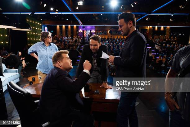 Executive Producers Rob Crabbe and Ben Winston chat with James Corden during 'The Late Late Show with James Corden' Thursday February 1 2018 On The...