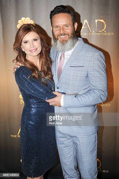Executive Producers Roma Downey and Mark Burnett attend the 'AD The Bible Continues' New York Premiere Reception at The Highline Hotel on March 31...