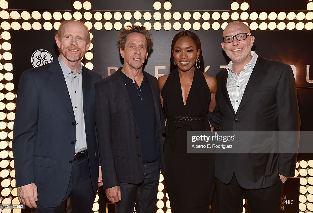 Executive producers Ron Howard and Brian Grazer and directors Angela Bassett and Akiva Goldsman attends National Geographic Channel's 'Breakthrough' world premiere event at The Pacific Design Center on October 26, 2015 in West Hollywood, California.