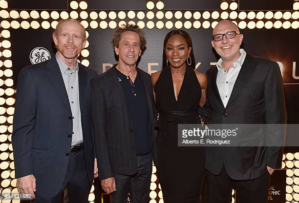 Executive producers Ron Howard and Brian Grazer and directors Angela Bassett and Akiva Goldsman attends National Geographic Channel's 'Breakthrough'...