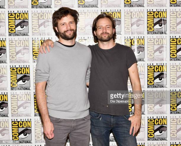 Executive producers Ross Duffer and Matt Duffer at Netflix's Stranger Things Press line during ComicCon International 2017 at Hilton Bayfront on July...