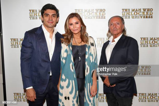 Executive producers Timur Tillyaev Lola Tillyaeva and Armand Assante at the premiere of THE MAN WHO UNLOCKED THE UNIVERSE on June 21 2018 in West...