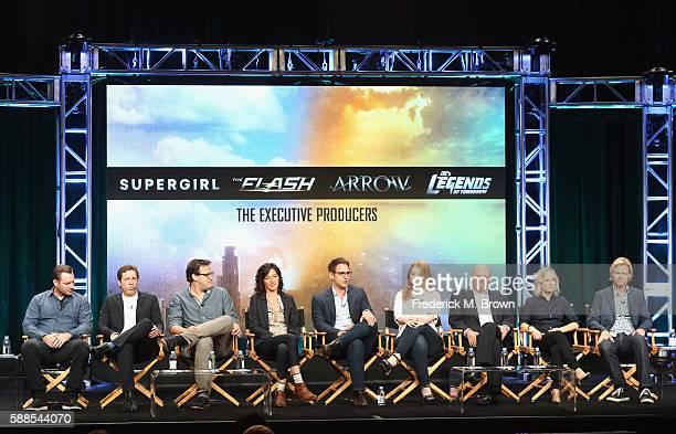 Executive producers Todd Helbing Aaron Helbing Andrew Kreisberg Ali Adler Greg Berlanti Sarah Schechter Marc Guggenheim Wendy Mericle and Phil...